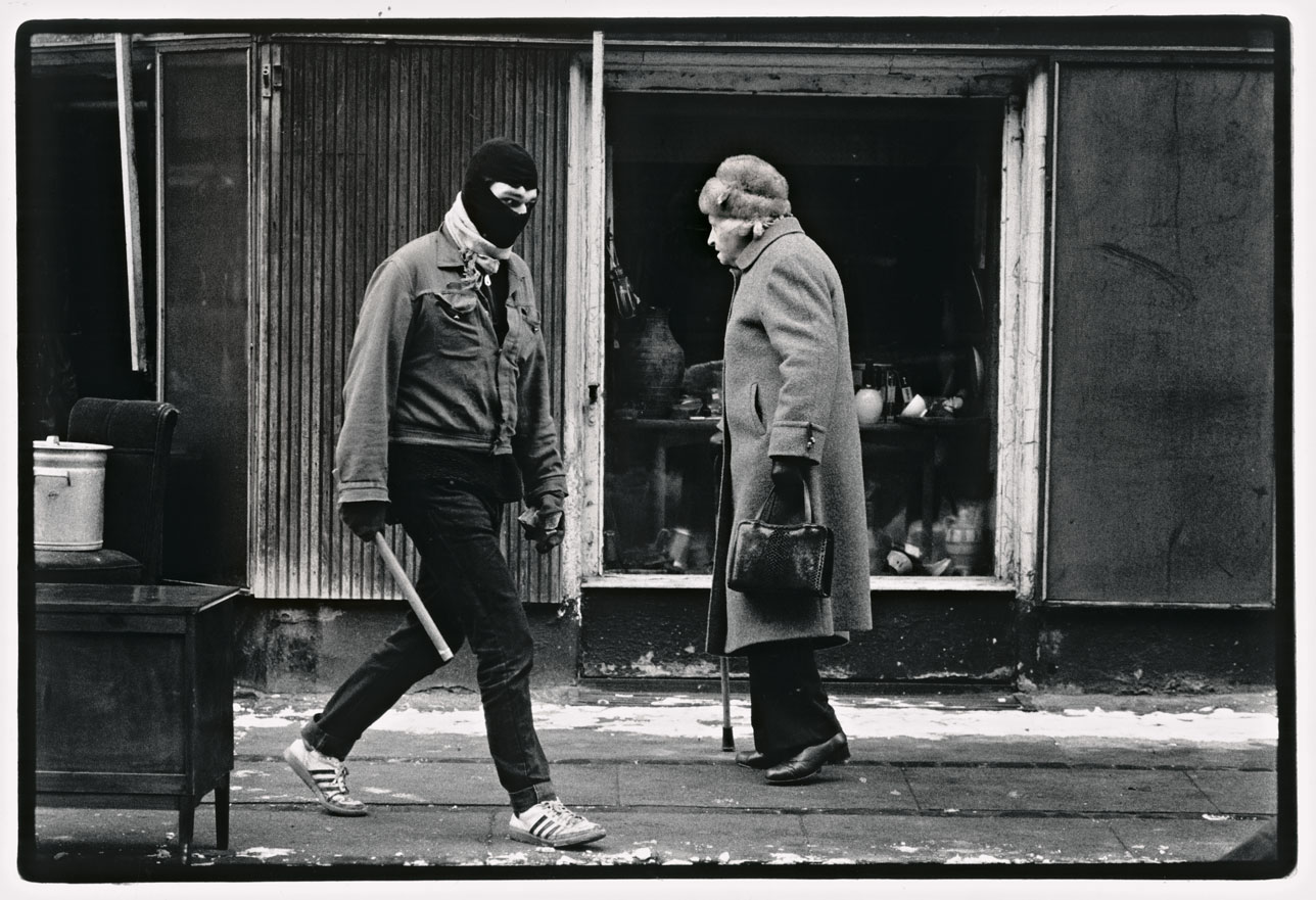 Et møde i Ryesgade, da BZ havde barrikaderet et helt kvarter på Østerbro, september 1986.